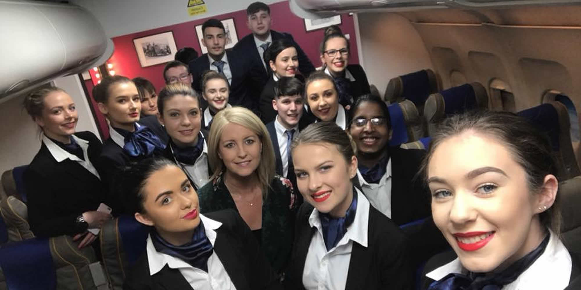 Travel & Tourism students visited the Academy of Aviation in Dublin Airport